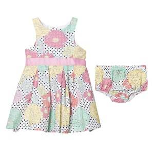 Andy & Evan Girls Dresses Multi Multi Floral Eyelet Dress