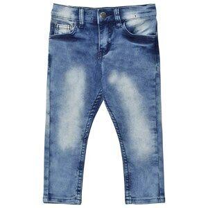 Nova Star Unisex Bottoms Blue Tapered Denim Jeans Blue