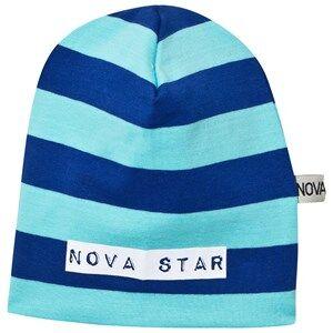 Nova Star Unisex Headwear Blue Beanie Striped Blue