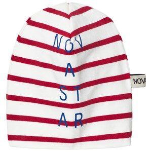 Nova Star Unisex Headwear Red Beanie Line Off White/Red