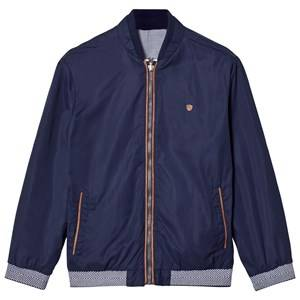 Mayoral Boys Coats and jackets Navy Navy Reversible Check Bomber Jacket