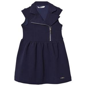 Mayoral Girls Dresses Navy Navy Rib Jersey Biker Dress