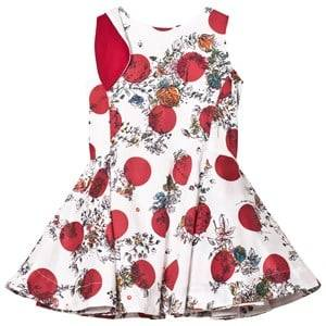 Image of Jessie & James Girls Dresses White Anna Dress White and Red Floral