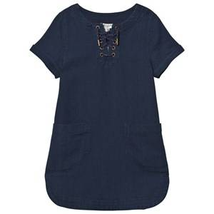 Cyrillus Girls Dresses Navy Indigo Twill Pocket Dress