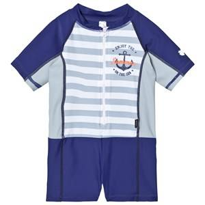 Lindberg Unisex Swimwear and coverups Navy Joy Suit Navy
