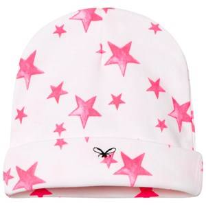 Livly Girls Headwear White Ninni Hat Hot Pink Stars