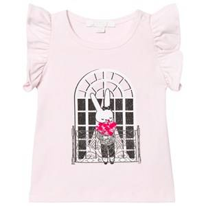 Livly Girls Tops White Angel Sleeve Top Pink French Window