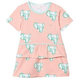 Image of Livly Girls Dresses White Lily Dress Coral Elephants