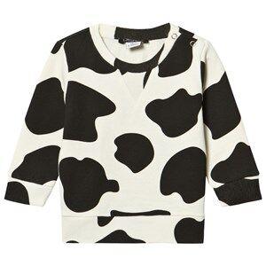 Little LuWi Unisex Jumpers and knitwear White Cow Sweatshirt