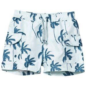 Mini A Ture Boys Swimwear and coverups Mateo K Surf Shorts Blue Ashes