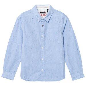 IKKS Boys Tops Blue Blue Multi Speck Shirt