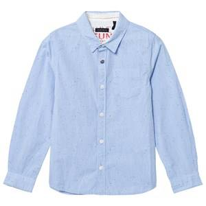 IKKS Boys Tops Blue Blue Multi Speck Shirt