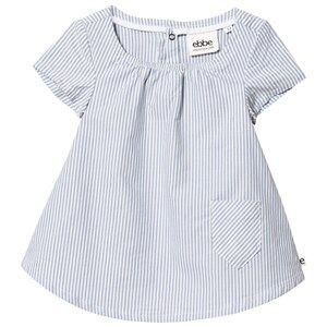 eBBe Kids Girls Dresses Blue Janja Dress Off-White Blue Stripe