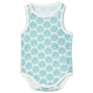 Kattnakken Unisex All in ones Blue Wool Sleeveless Baby Body Blue Lion