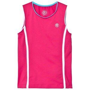 Poivre Blanc Girls Tops Pink Pink Classic Tennis Tank