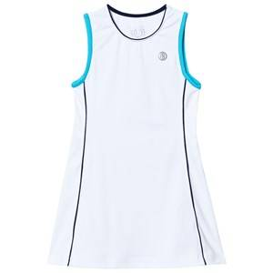 Poivre Blanc Girls Dresses White White Blue Classic Tennis Dress