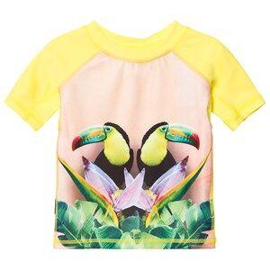 Molo Unisex Swimwear and coverups Yellow Neptune Top Mirror Toucans