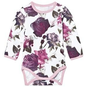 Image of Hummel Girls All in ones Pink Elenor Baby Body Multi Color Pink