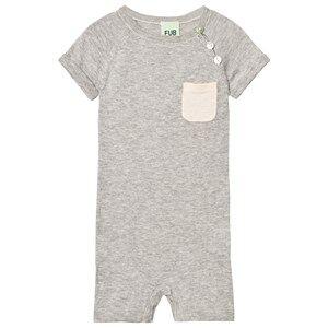 FUB Unisex All in ones Grey Baby Body Light Grey