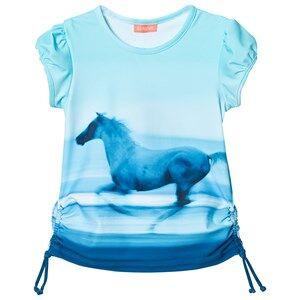 Sunuva Girls Swimwear and coverups Blue Blue Photographic Sunset Rash Vest