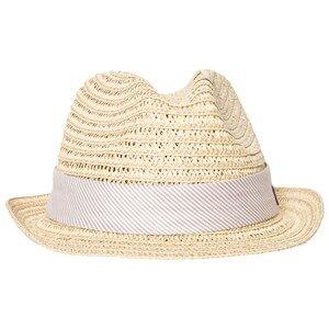 Melton Unisex Headwear Grey Straw Hat Summer Dust