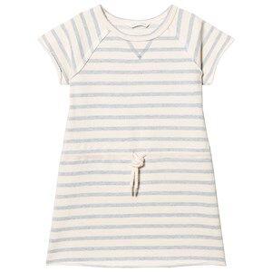 eBBe Kids Girls Dresses Blue Sally Sweat Dress Blue Fog Stripes