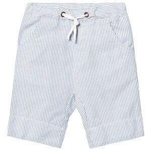 eBBe Kids Boys Shorts Blue Joel Low Crotch Shorts Off White/Blue Stripes