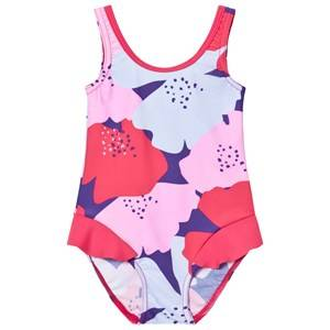 Image of Reima Girls Swimwear and coverups Red Corfu Swimsuit Strawberry Red