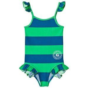 Geggamoja Girls Swimwear and coverups Navy Swim Suit Marin Green