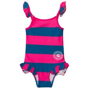 Image of Geggamoja Girls Swimwear and coverups Pink Swim Suit Marin Strong Pink