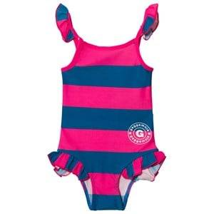 Geggamoja Girls Swimwear and coverups Pink Swim Suit Marin Strong Pink