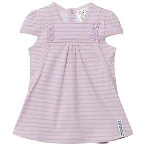 Geggamoja Girls Dresses Pink Summer Button Dress Soft Pink Lilac
