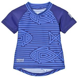 Reima Unisex Swimwear and coverups Blue Azores Swim Shirt Blue