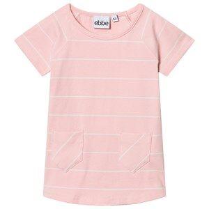 Image of eBBe Kids Girls Dresses Pink Erin A-Line Dress Powder Pink/Off White Stripes