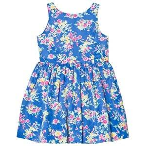 Ralph Lauren Girls Dresses Blue Blue Floral Print Party Dress