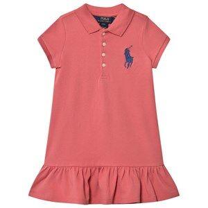 Ralph Lauren Girls Dresses Pink Pink Big Pony Polo Dress