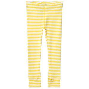Anïve For The Minors Unisex Bottoms Yellow Leggings Happy Yellow/White Stripes