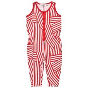 Image of Anïve For The Minors Unisex All in ones Red Jumpsuit Tokyo White/Red