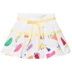 Simonetta Girls Skirts White Sailing Print Cotton Skirt