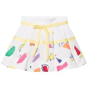 Simonetta Girls Skirts White Sailing Print Cotton Skirt