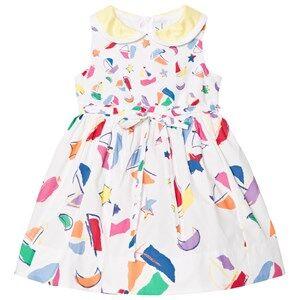 Simonetta Girls Dresses White Sailing Print Cotton Dress