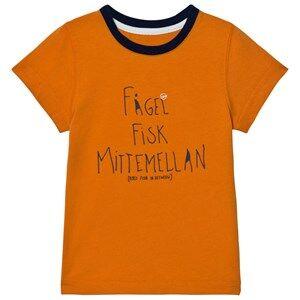 Didriksons Unisex Tops Orange Krabban Kids T-Shirt Glow