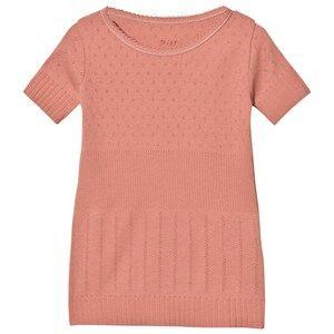 Noa Noa Miniature Girls Tops Pink Doria Mini Basic T-Shirt Brick Dust