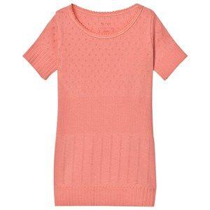 Noa Noa Miniature Girls Tops Pink Doria Mini Basic T-Shirt Strawberry Ice