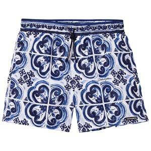 Dolce & Gabbana Boys Swimwear and coverups Blue Printed Beach Shorts Blue