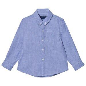 Andy & Evan Boys Tops Blue Blue Chambray Button Down Shirt