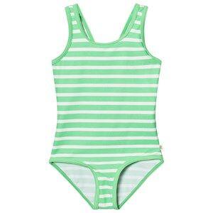 Image of eBBe Kids Girls Swimwear and coverups Green Agnes Swimsuit Crisp Green Stripes