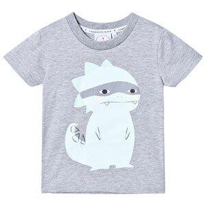Scamp & Dude Unisex Tops Grey Super Marl T-Shirt – Super Dino
