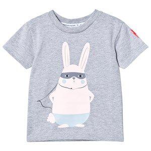 Scamp & Dude Unisex Tops Grey Super Marl T-Shirt – Super Bunny
