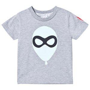 Scamp & Dude Unisex Tops Grey Super Marl T-Shirt – Balloon Man